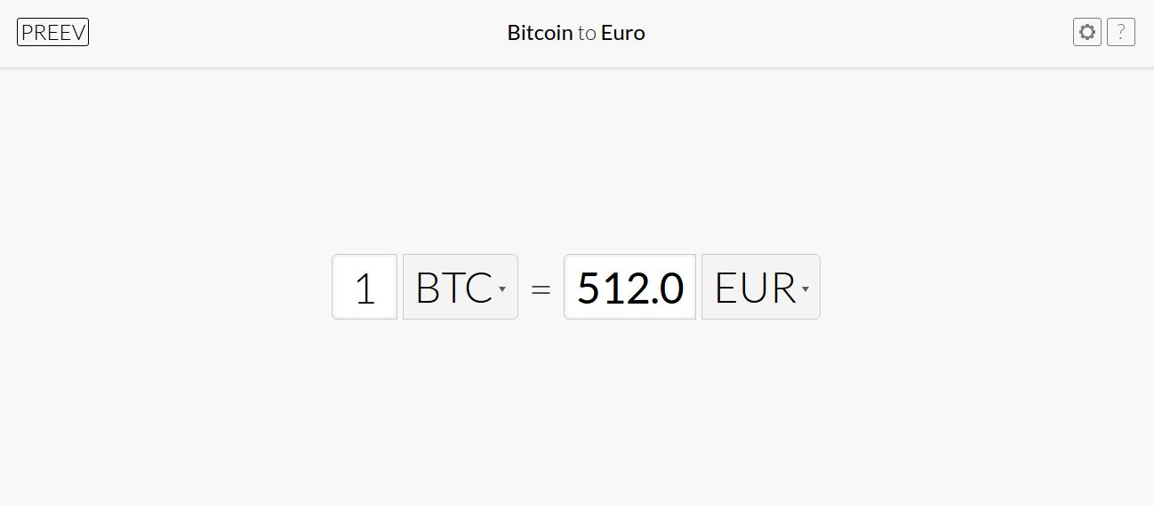 preev - cours du bitcoin en euro